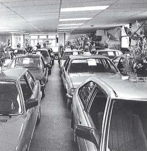 Showroom with cars