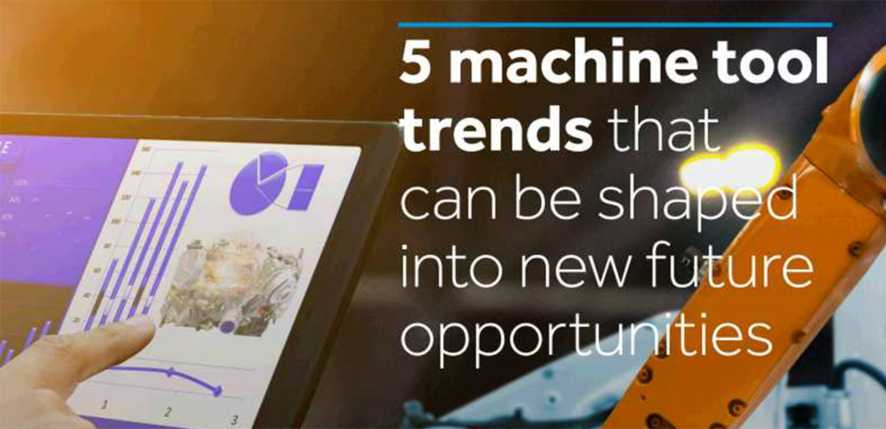 Part of the cover of the machine tools trends report